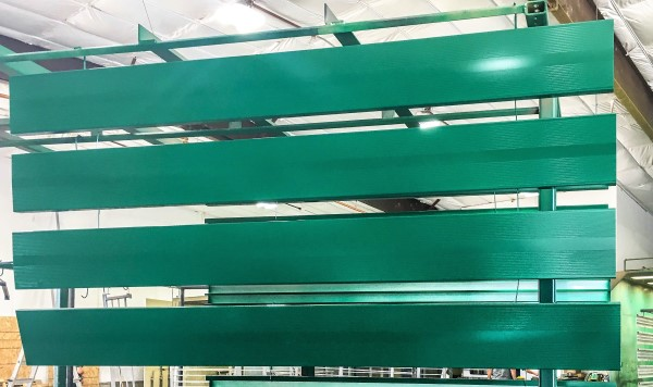 Powder Coated Table Green Aluminum Planks