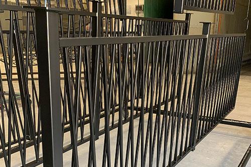 Black Gloss Shine Handrails