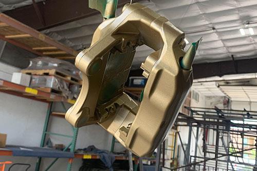 Metallic Gold Powder Coated Car Parts