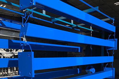 Bengal Blue Powder Coated Pavilion Columns