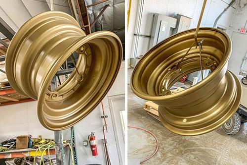 Miners Gold Powder Coat Color For Aluminum Car Rims