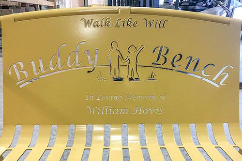 Sand Yellow Powder Coat Buddy Bench