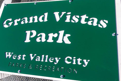 Powder Coated Green Park Signs