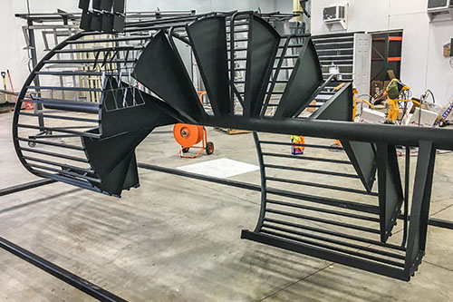 Matte Black Powder Coated Staircases