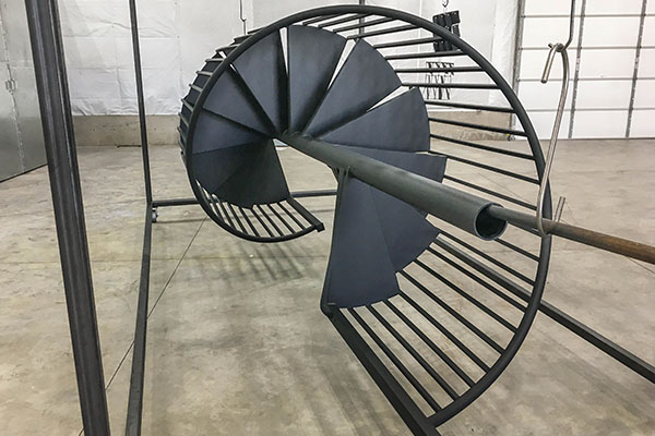 Powder Coated Spiral Metal Staircases